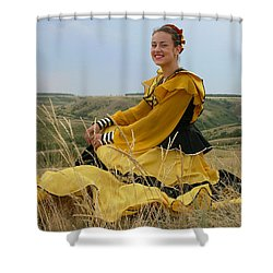 Cossack Young Lady Shower Curtain