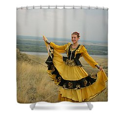Cossack Young Woman Shower Curtain