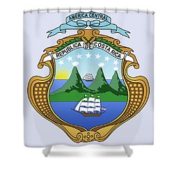 Costa Rica Coat Of Arms Shower Curtain by Movie Poster Prints