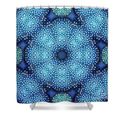 Cote D'azur Shower Curtain by Mo T