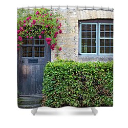 Shower Curtain featuring the photograph Cotswolds Cottage Home by Brian Jannsen