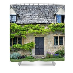 Shower Curtain featuring the photograph Cotswolds Cottage Home II by Brian Jannsen