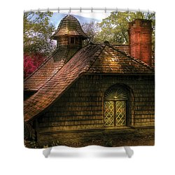 Cottage - Sweet Old Lady House Shower Curtain by Mike Savad