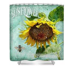 Cottage Garden - Sunflower Standing Tall Shower Curtain by Audrey Jeanne Roberts