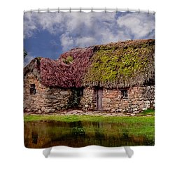 Cottage In The Highlands Shower Curtain by Anthony Dezenzio
