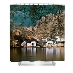 Cottage On The Lake Shower Curtain