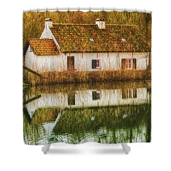Cottage Reflection Shower Curtain
