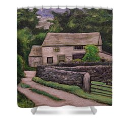 Cottage Road Shower Curtain by Ron Richard Baviello