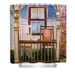 Cottage Rockers Shower Curtain by John Williams