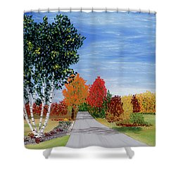 Cottage Row Shower Curtain
