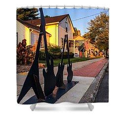 Cottage Street Guitars Shower Curtain