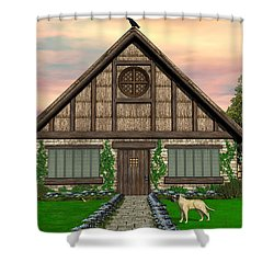Cottage Shower Curtain by Walter Colvin