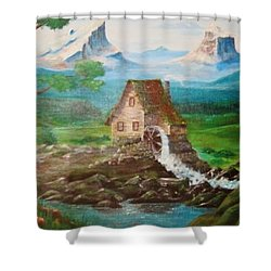 Cotten Jenny Shower Curtain by Cathy Long