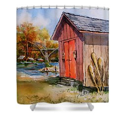 Cotter Shed Shower Curtain