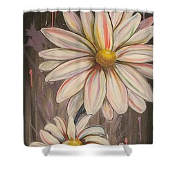 Cotton Candy Daisies Shower Curtain