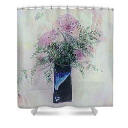 Shower Curtain featuring the photograph Cotton Candy Dreams by Linda Lees