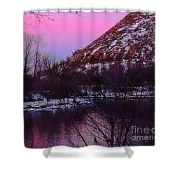 Cotton Candy On The Kittatinny Shower Curtain