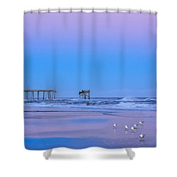 Cotton Candy Sunset Shower Curtain