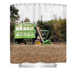 Cotton Picker Shower Curtain