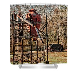Cotton Gin In Vincent Alabama Shower Curtain by Phillip Burrow