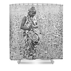 Shower Curtain featuring the photograph Cotton Picker by Pravine Chester