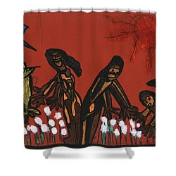 Cotton Pickers Shower Curtain