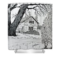 Cottonwood Homestead Shower Curtain by Jack G  Brauer