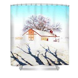 Cottonwood Ranch, Kansas Shower Curtain