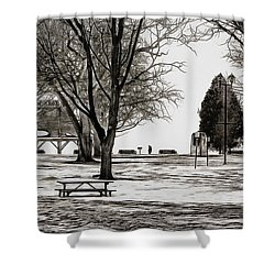 Couchiching Park In Pencil Shower Curtain