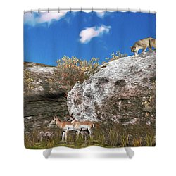 Cougar From Above Shower Curtain
