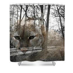 Cougar The Cunning One Shower Curtain