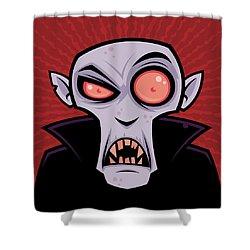 Count Dracula Shower Curtain by John Schwegel