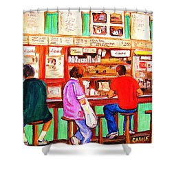 Shower Curtain featuring the painting Counter Culture by Carole Spandau