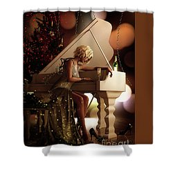 Shower Curtain featuring the digital art Counting Blessings by Shanina Conway