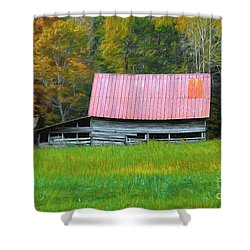 Shower Curtain featuring the photograph Country Autumn  by Marion Johnson