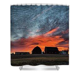 Country Barns Sunrise Shower Curtain