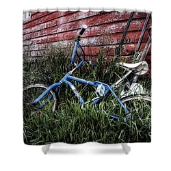 Shower Curtain featuring the photograph Country Bicycle by Brad Allen Fine Art