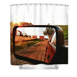 Country Boys Shower Curtain by Pat Cook