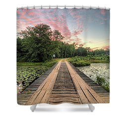 Country Bridges Shower Curtain