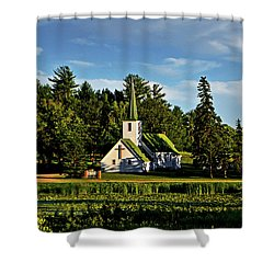 Country Church 003 Shower Curtain by George Bostian