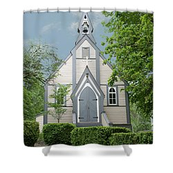 Country Church Shower Curtain by Rod Wiens