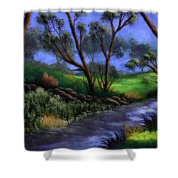 Country Club View Shower Curtain