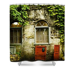 Country Cottage And Six Pane Windows Shower Curtain