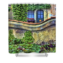 Country Cottage Shower Curtain by Nadia Sanowar
