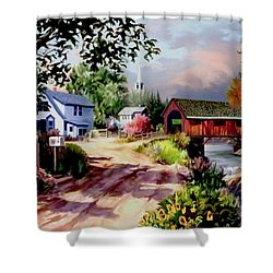 Country Covered Bridge Shower Curtain