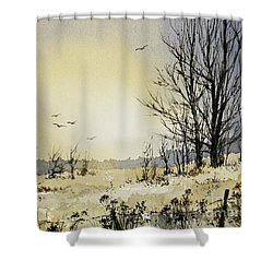 Shower Curtain featuring the painting Country Dawn by James Williamson