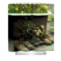 Country Day Spa Shower Curtain by Kandy Hurley