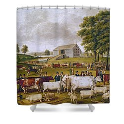 Country Fair, 1824 Shower Curtain by Granger