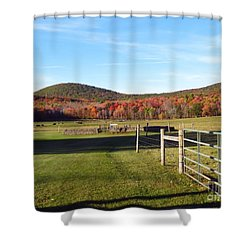 Country Farm And Family Plot Shower Curtain