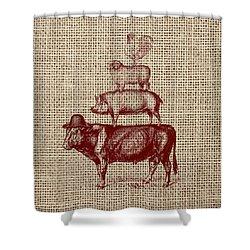 Country Farm Friends 2 Shower Curtain